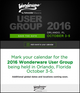 2016 Wonderware User Group @ Loews Royal Pacific Resort | Orlando | Florida | United States